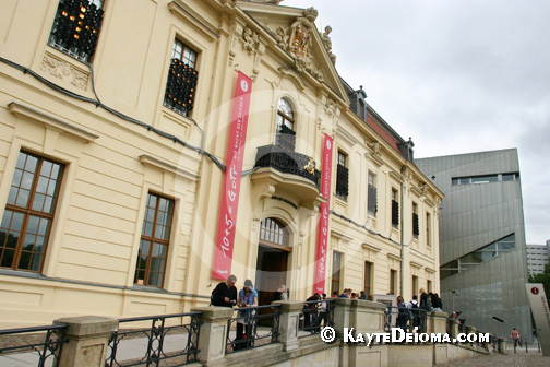 The original Baroque building from the Berlin Museum is now the entrance to the Jewish Museum Berlin, Germany.