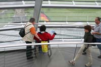 Visitors can compare the view of the Berlin skyline with a viewing guide.