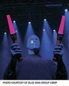 photo courtesy of Blue Man Group Š BMP