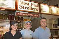 The staff of West End Strollers at Quincy Market, Faneuil Hall Marketplace, Boston, MA
