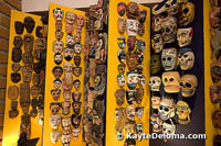 Hundreds of masks from across Mexico are on display at the Mexican Folk Art Museum in Cancun.