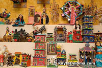 The toy exhibit at the Mexican Folk Art Museum.