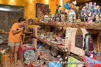 The gift shop at the Mexican Folk Art Museum.
