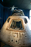 Apollo Command Module used on Skylab 3, on display at the NASA Glenn Research Center in Cleveland.