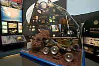 A model of the Mars Rover, Sojourner on exhibit at the NASA Glenn Research Center.