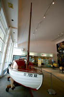 The original sailboat, Tinkerbell, that Robert Manry sailed across the Atlantic in 1965.