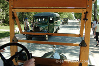 Historic vehicles will drive you around Greenfield Village.