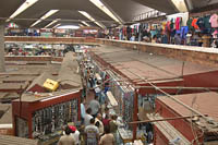 Looking down on the first and second levels of Mercado Libertad from the east end of the third level. Guadalajara, Mexico