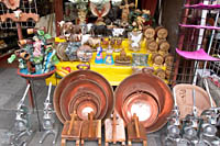 Vendor display on the north side of Mercado Libertad in Guadalajara, Mexico.