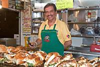 La Torta Loca at Mercado Libertad (San Juan de Dios), Guadalajara, Mexico.