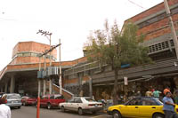 The north side of Mercado Libertad (San Juan de Dios) in Guadalajara, Mexico.