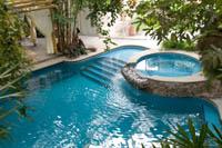 The pool at Piedra Viva Spa in Guadalajara, Mexico.
