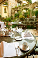 Patio Restaurant at the Quinta Real Hotel, Guadalajara, Jalisco, Mexico