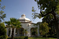 The gazebo inside the hacienda grounds at Mundo Cuervo is used for special events.