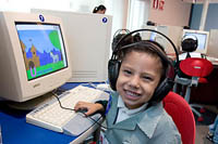 An in house team of software designers designed age-appropriate educational software programs for children of all ages.