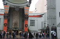 You can usually find several people handing out free tickets to TV show tapings on weekdays in front of Grauman's Chinese Theatre in Hollywood, CA. © KayteDeioma.com