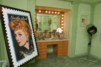 "The ""Redheads Only"" make-up room in the Max Factor exhibit at the Hollywood History Museum. Š Kayte Deioma"