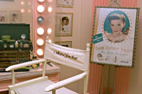The &quot;Brownettes&quot; make-up room in the Max Factor exhibit at the Hollywood History Exhibit.  Kayte Deioma