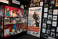 The Marilyn Monroe memorabilia collection at the Hollywood History Museum.  Kayte Deioma