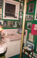 Roddy McDowell's Powder Room relocated from his house to the Hollywood History Museum. Š Kayte Deioma