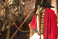 Costumes and set decorations from Master and Commander at the Hollywood History Museum.  Kayte Deioma