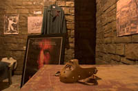Hannibal Lechter's cell from Silence of the Lambs and Red Dragon in the basement of the Hollywood History Museum.  Kayte Deioma