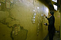 The Map Room at the Cabinet War Rooms, London.