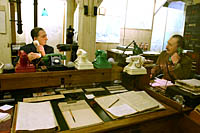 Communications Room at the Cabinet War Rooms, London.