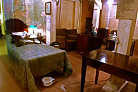 The Prime Minister's Bedroom at the Cabinet War Rooms, London.