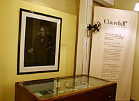 Churchill Display at the Cabinet War Rooms, London.