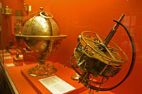 An early chronometer in the Clock Room at the British Museum, London.