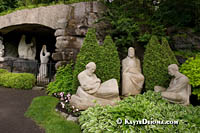 The Way of the Cross and Oratory Gardens at St. Joseph's Oratory, Montreal. Š Kayte Deioma