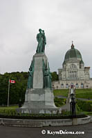 St. Joseph's Oratory on a rainy day in Montreal. Š Kayte Deioma