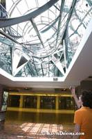 L'artiste est celui qui fait voir l'autre côté des choses, a public art installation by Claude Bettinger at Place des Arts. Š Kayte Deioma