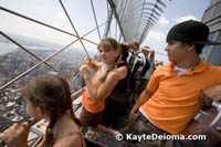 Sarah, Becca and Derick on the Empire State Building Observation Deck