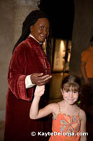 Sarah with a wax Whoopi