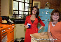 Ellie in Rachael Ray's kitchen