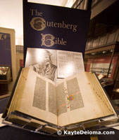 The Gutenberg Bible at the Huntington Library in San Marino