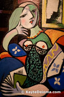 Picasso's Woman with a Book at the Norton Simon Museum