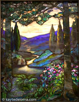 """River of Life"" by Louis Comfort Tiffany, at the Figge Art Museum, Davenport, IA"