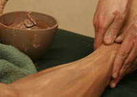 The Golden Center Chocolate Mole Mud Wrap is designed to restore balance.
