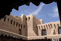 courtyard of the Museum of Fine Arts, Santa Fe, New Mexico.