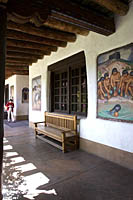 Courtyard of the Museum of Fine Arts, Santa Fe, NM.