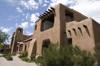 The Museum of fine Arts, Museum of New Mexico, built in Santa Fe in 1917.