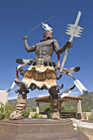 Apache Mountain Spirit Dancer by Craig Dan Goseyun on Museum Hill; Santa Fe; New Mexico